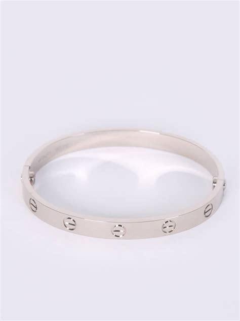 Cartier   Love 18kt White Gold Bracelet 17   Luxury Bags