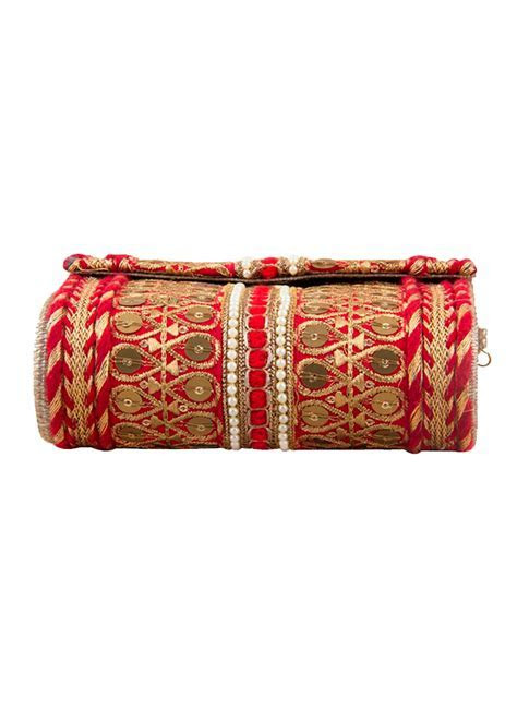 The Purple Sack   Traditional Red Clutch Bag   Shop Bags