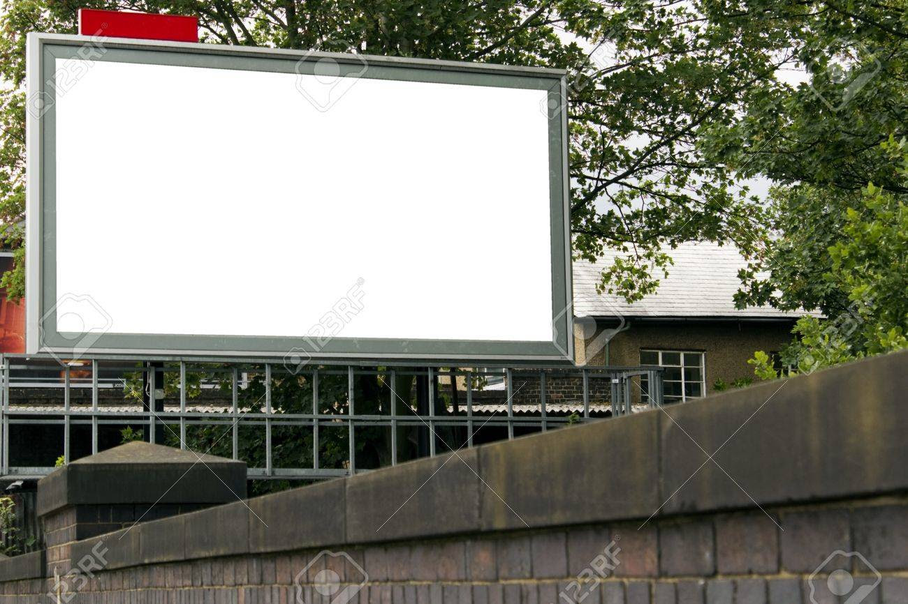 Large Blank Billboard For Your Design Stock Photo, Picture And ...