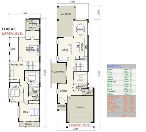 custom home designs house  narrow lot house plans