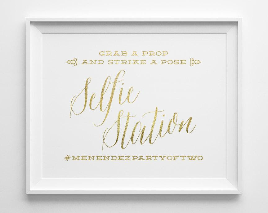 Wedding Signs Selfie Station Photo Booth Sign Hashtag Sign Grab A