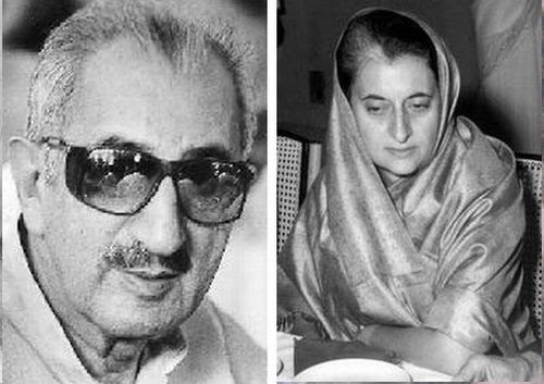 Muhammad Yunus and Indira Gandhi.