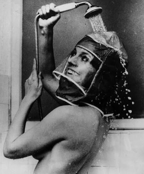 Shower Hood, 1970 - crazy invention for the woman who likes to put makeup on her dirty face.