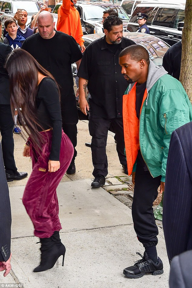 In recovery: Kim and Kanye seen in New York one day after the heist