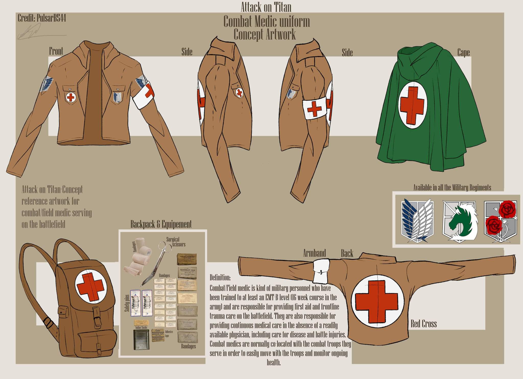 Concept Reference Combat Medic Attack On Titan Amino