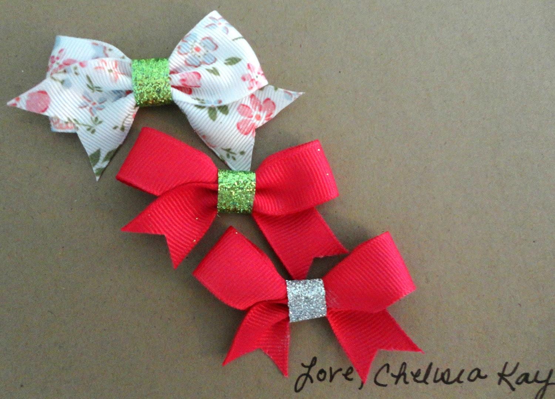 Set of 3 Spring Mini Sparkle Bows