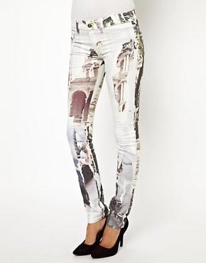 Image 1 ofDiesel Livier Printed Skinny Jeans