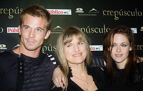 Cam Gigandet, Catherine Hardwicke y Kristen Stewart