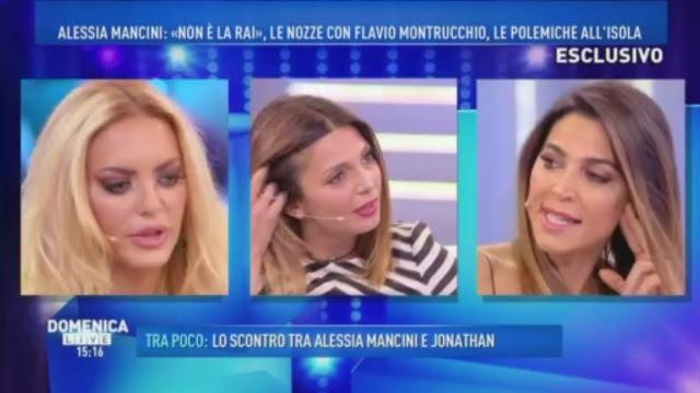 Risultati immagini per Cecilia Capriotti alessia mancini DOMENICA LIVE