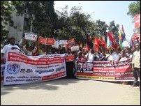 Protest against UN
