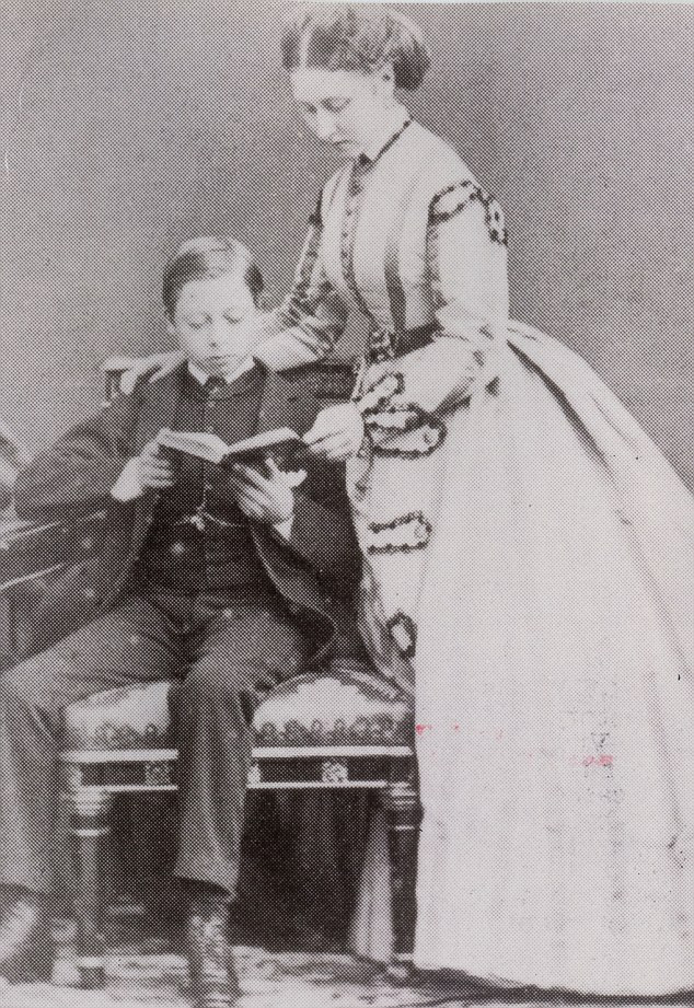 Family: Princess Louise and her younger brother Leopold pictured in 1886
