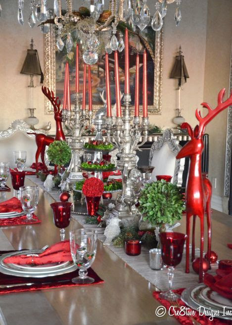 50 Stunning ChristmasTablescapes - Christmas Decorating -