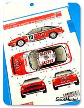 Decals 1/24 Studio27 - Toyota Celica ST165 Bastos - Nº 10 - P. Snijers + D. Colebunders - Rally de Montecarlo 1989 para kit de Aoshima AOSH-081198