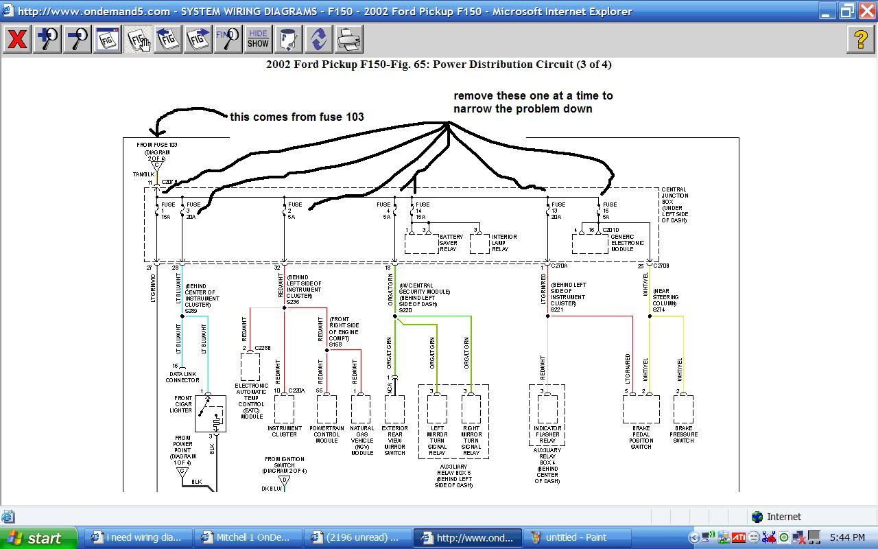 I need wiring diagrams for under hood and dash for a 2002 ...