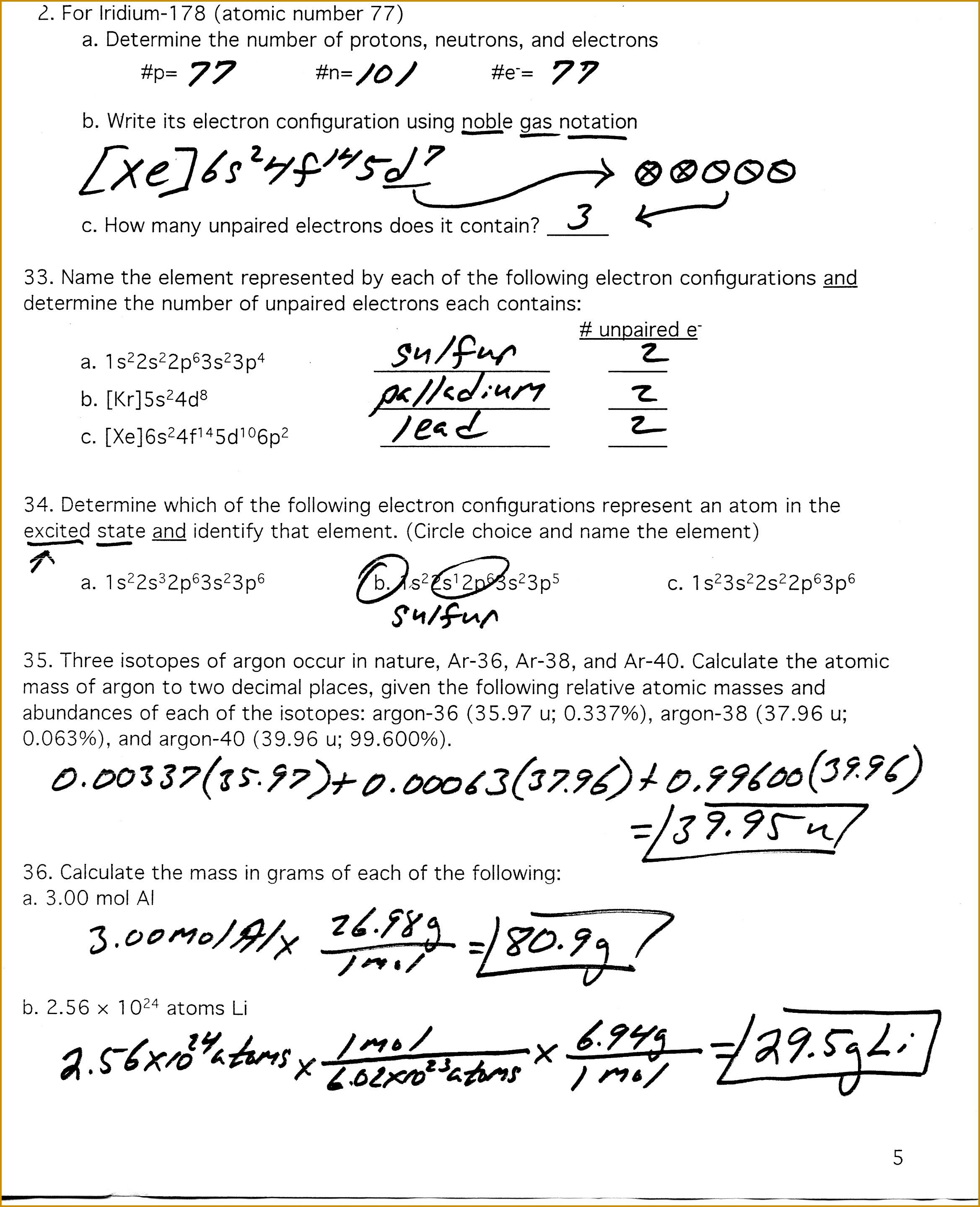 Average Atomic Mass Worksheet Answers Nidecmege
