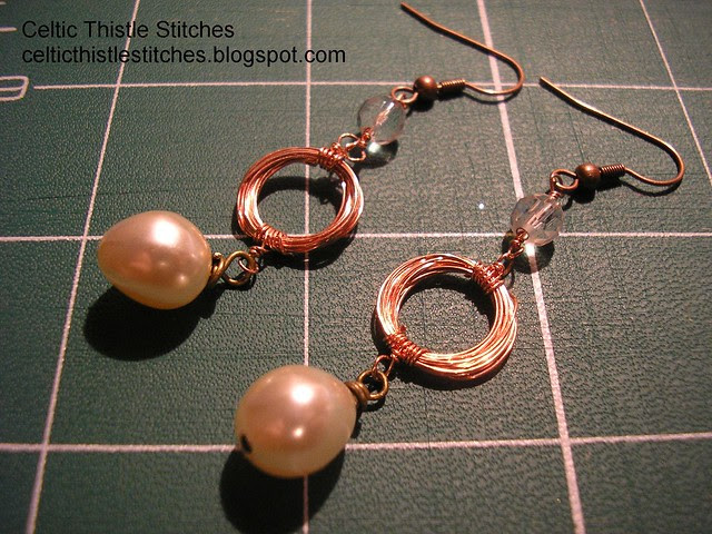 Wire-wrapped earrings