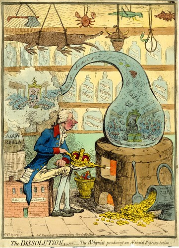 The Dissolution, or The Alchymist producing an Aetherial Representation (Gilray)