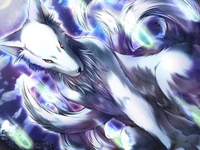 anime wolf girl with brown hair.  Maboroshi, Hikaru's ability to generate illusions, and the Shiden,