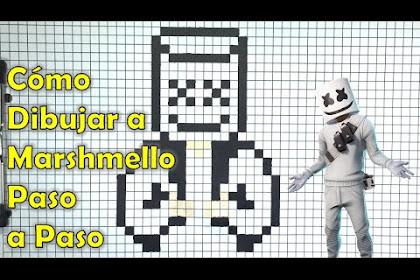 Como Dibujar A Marshmello Fortnite Paso A Paso