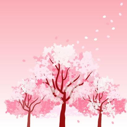 桜の木花びらのイラストaieps ベクタークラブイラストレーター素材