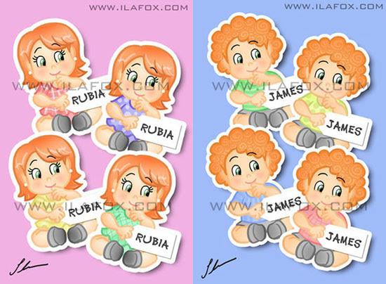 lembrancinha para bebês ruivos, lembrancinha original imã, nascimento, chá-de-bebê, batizado, festinha de 1 ano by ila fox
