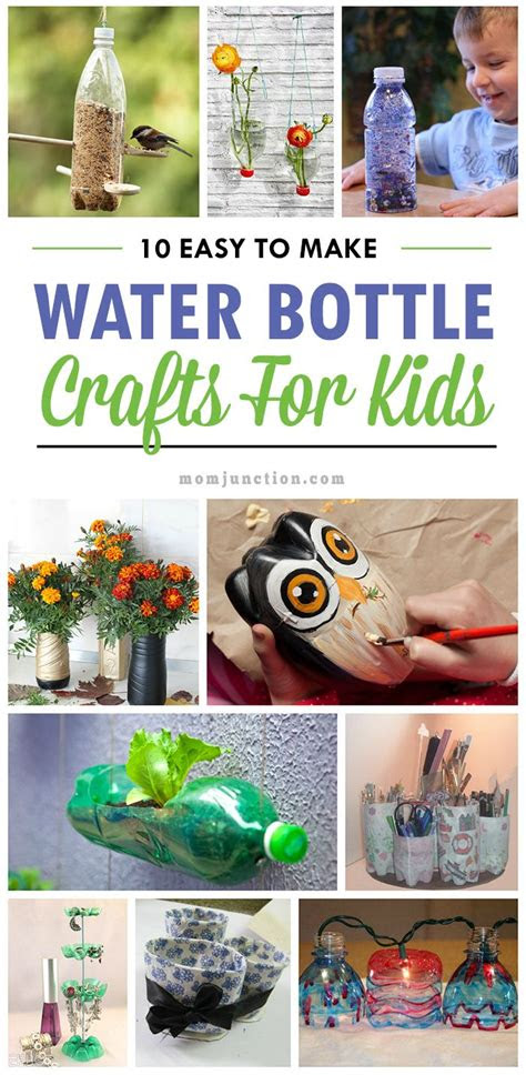 easy   water bottle crafts   kidone