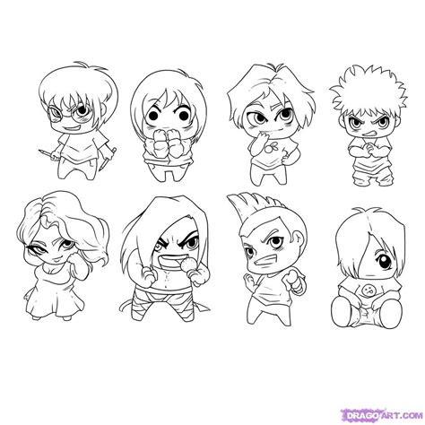 draw chibi characters step  step chibis draw