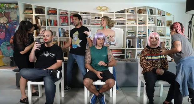 Batalha da Beleza com Leo Fuchs, Chico Salgado e Bruno Gagliasso (Foto: Reprodução/Instagram)