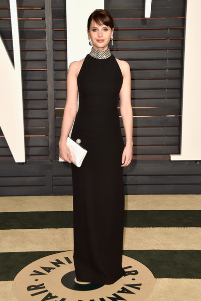 Felicity Jones in Saint Laurent