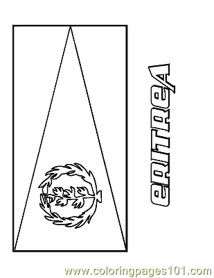 Download Coloring Pages Eritrea (Education > Flags) - free printable coloring page online