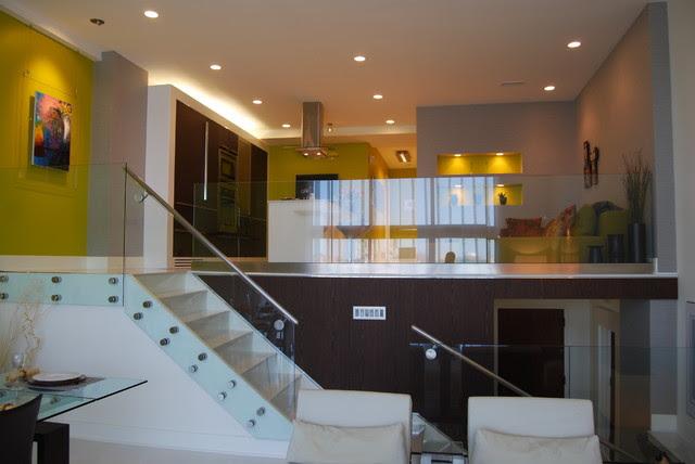 Condo unit interior renovation - contemporary - staircase - dc ...