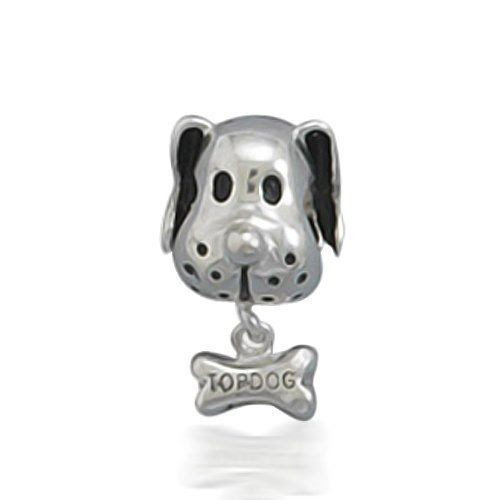 Bling Jewelry 925 Sterling Silver Dog & Bone Animal Dangle Bead Pandora Biagi Troll Chamilia Charm Compatible: Bling Jewelry: Je...
