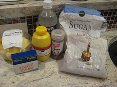 Ingredients for Jamon Enrollado con Piña