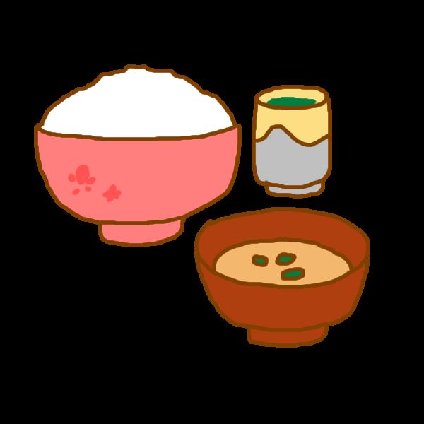 ごはんと味噌汁のイラスト かわいいフリー素材が無料のイラストレイン