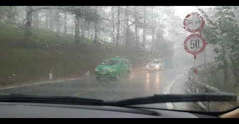 Live Drive #6: Lái xe qua nhà ma Đèo Prenn trong trời giông bão lạnh teo !