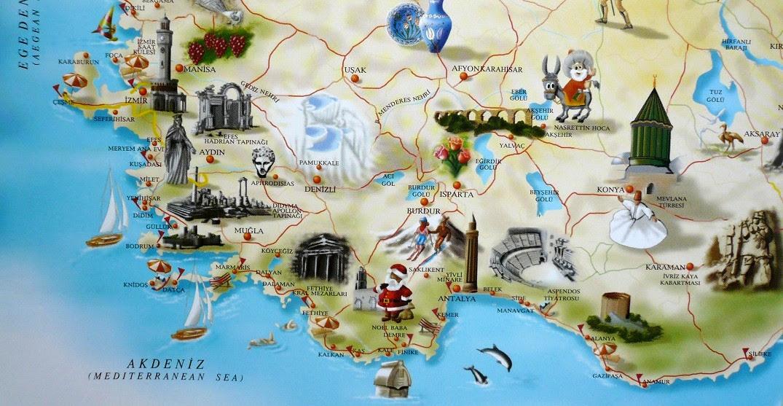 Cartes De Turquie Carte De Lycie Carte De Cappadoce Plan D