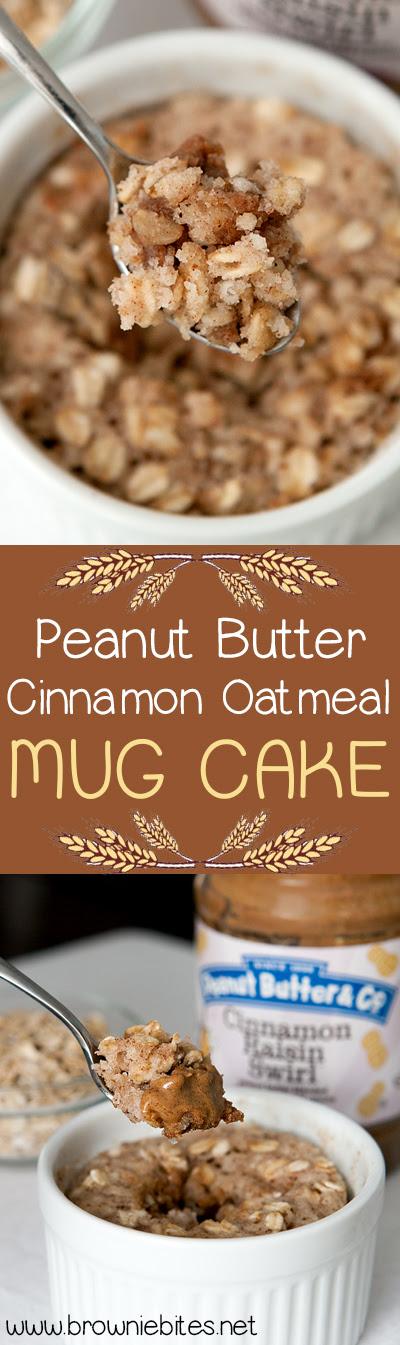Peanut Butter Cinnamon Oatmeal Mug Cake + Giveaway ...