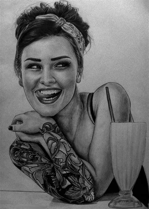 tattoo girl yeah drawing yeah deviantart