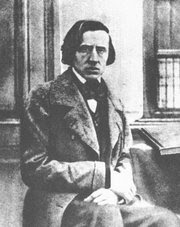 The only known photograph of Frédéric Chopin, taken during the degenerative stages of his tuberculosis