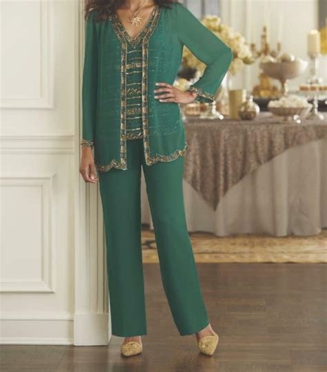 womens mother  bride groom wedding pc pant suit