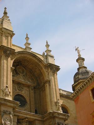 Beautiful buildings of Granada in Spain