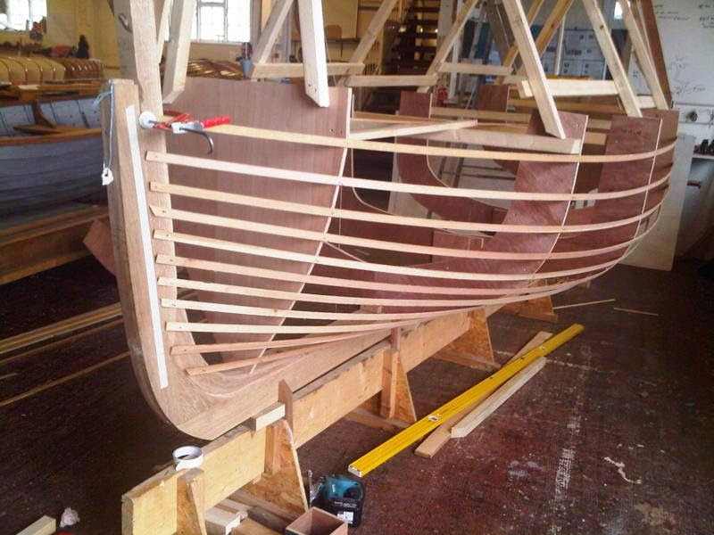 Ian Baird's Dorset crab and lobster boat at the Boat Building Academy