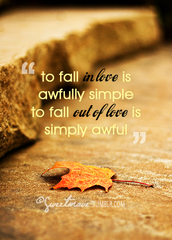 Simple To Fall In Love Quote