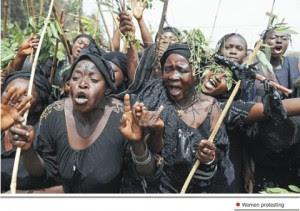 File Photo: Protesting women