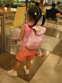 Keona and her backpack
