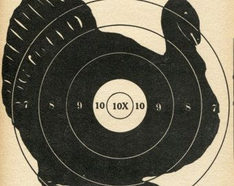 Vintage Shooting Target Racoon II | Vintage, Alvos de tiro e Alvo