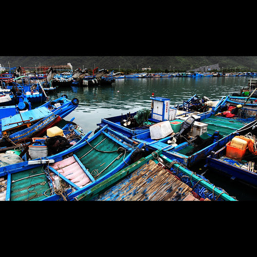 [scenery] fishing port (烏石港) by pooldodo