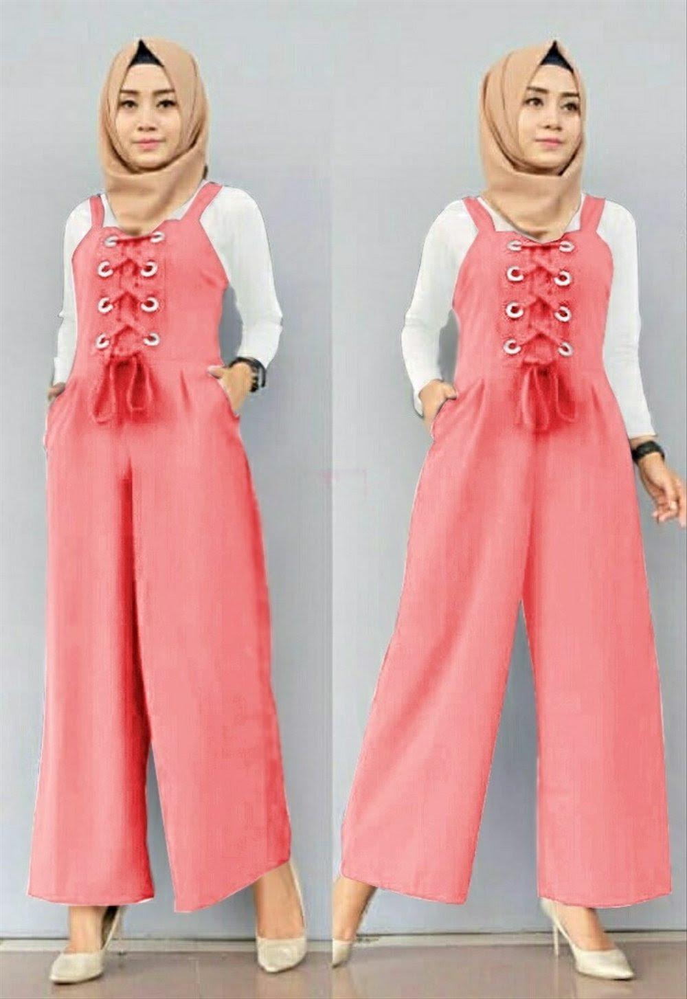 Baju Gamis Lebaran Model Terbaru Baju Wanita Remaja Jumpsuit Rusmita Salem Free  Inner Murah Mita Th cab32897db