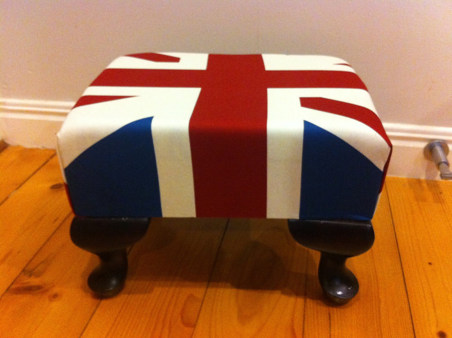 Union Jack decorative foot stool