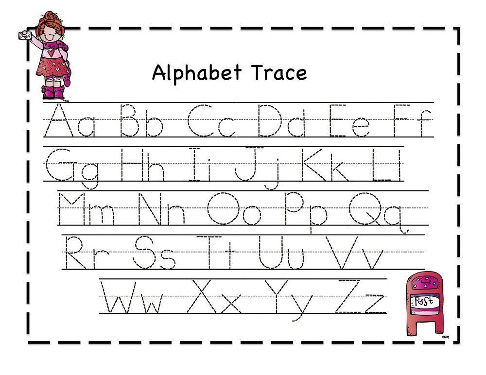 traceable letter worksheets A-Z | Printable | Pinterest ...